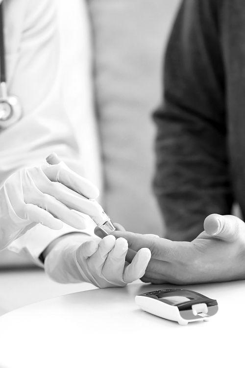 Teste de insulina a diabético